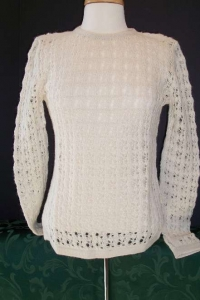 Womens Lacy Sweater